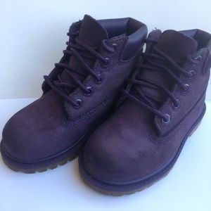 Purple timberlands boots